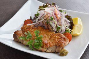 阿波尾鶏のパリパリ焼き